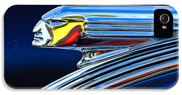 Car iPhone 5 Cases - 1939 Pontiac Silver Streak Chief Hood Ornament iPhone 5 Case by Jill Reger