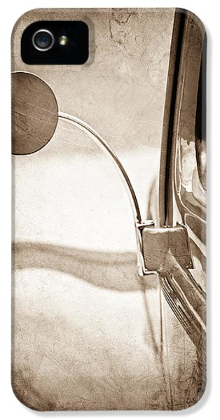 Ford Classic Car iPhone 5 Cases - 1940 Ford Deluxe Coupe Rear View Mirror iPhone 5 Case by Jill Reger
