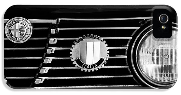 Alfa Romeo iPhone 5 Cases - Alfa-Romeo Grille Emblem iPhone 5 Case by Jill Reger