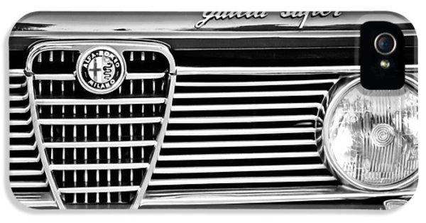Alfa Romeo iPhone 5 Cases - Alfa-Romeo Guilia Super Grille Emblem iPhone 5 Case by Jill Reger