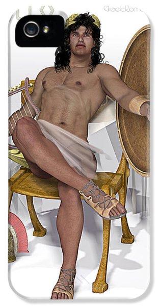 Apollo Print iPhone 5 Cases - Apollo god iPhone 5 Case by Joaquin Abella