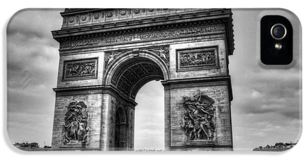 Arc iPhone 5 Cases - Arc de Triomphe iPhone 5 Case by Ryan Wyckoff
