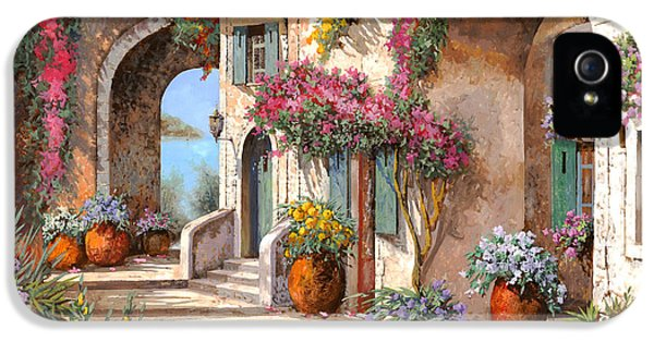 Street Scene iPhone 5 Cases - Archi E Fiori iPhone 5 Case by Guido Borelli