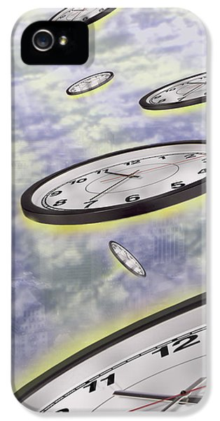 Spaceships iPhone 5 Cases - As Time Goes By iPhone 5 Case by Mike McGlothlen