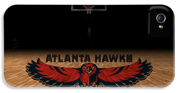 Nba iPhone 5 Cases - Atlanta Hawks iPhone 5 Case by Joe Hamilton