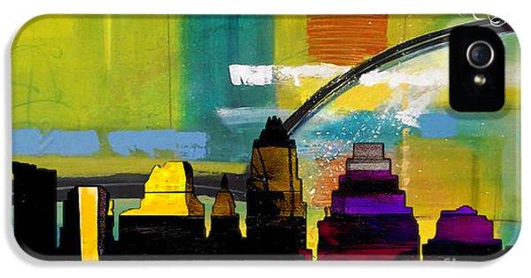 Austin Texas Skyline Watercolor IPhone 5 / 5s Case by Marvin Blaine