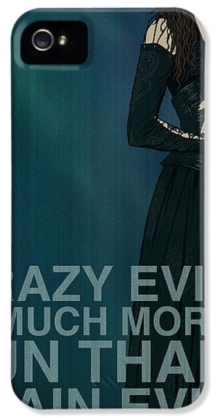 Witch iPhone 5 Cases - Bellatrix Lestrange iPhone 5 Case by Christopher Ables