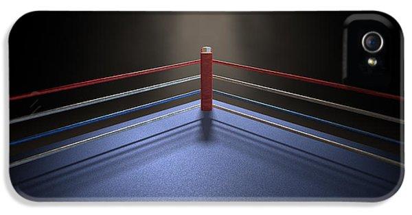 Spotlight iPhone 5 Cases - Boxing Corner Spotlit Dark iPhone 5 Case by Allan Swart