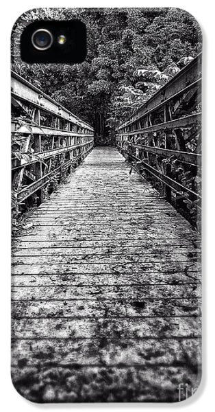 Thriller iPhone 5 Cases - Bridge leading into the bamboo jungle iPhone 5 Case by Edward Fielding