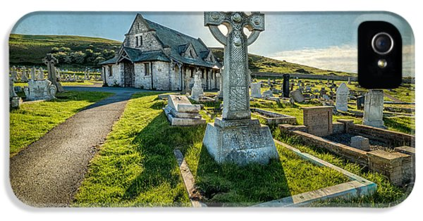 Cemetary iPhone 5 Cases - Celtic Cross iPhone 5 Case by Adrian Evans