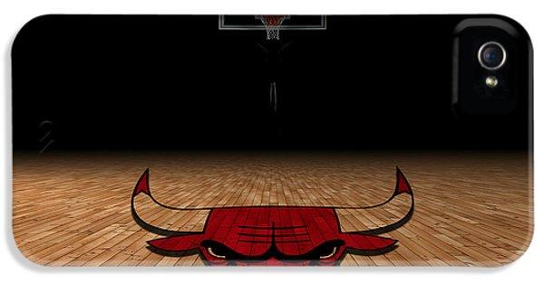 Nba iPhone 5 Cases - Chicago Bulls iPhone 5 Case by Joe Hamilton
