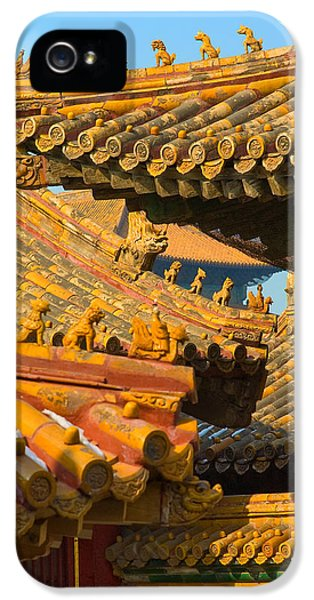 City iPhone 5 Cases - China Forbidden City Roof Decoration iPhone 5 Case by Sebastian Musial