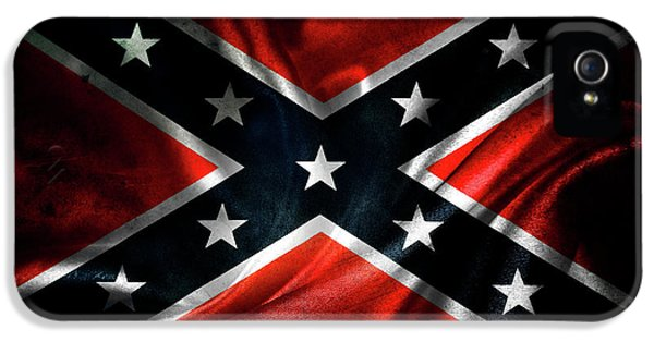 War iPhone 5 Cases - Confederate flag iPhone 5 Case by Les Cunliffe
