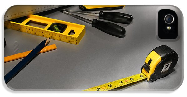 Work Tool iPhone 5 Cases - Construction iPhone 5 Case by Olivier Le Queinec