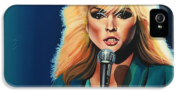 Plastic iPhone 5 Cases - Deborah Harry or Blondie iPhone 5 Case by Paul  Meijering