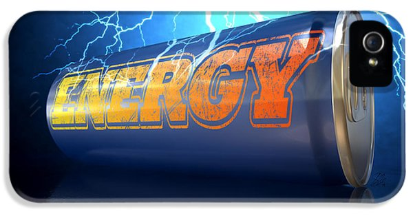Exuberance iPhone 5 Cases - Energy Drink Can iPhone 5 Case by Allan Swart