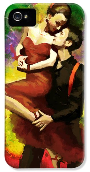 Coordination iPhone 5 Cases - Flamenco Dancer 029 iPhone 5 Case by Catf
