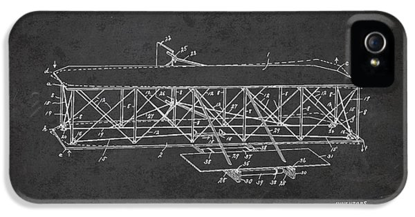 Airplane iPhone 5 Cases - Flying Machine Patent Drawing from 1906 iPhone 5 Case by Aged Pixel