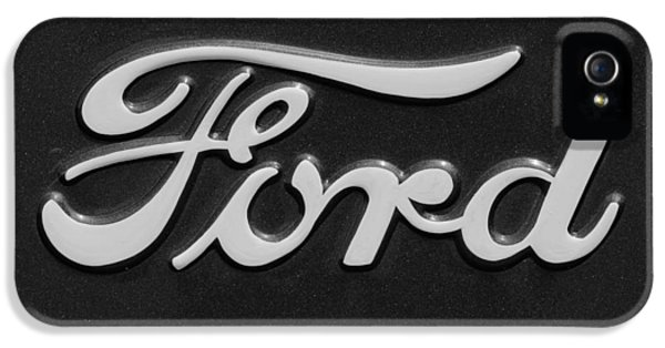Ford Classic Car iPhone 5 Cases - Ford Emblem iPhone 5 Case by Jill Reger