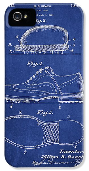 High Heel iPhone 5 Cases - Golf shoe Patent Drawing From 1931 iPhone 5 Case by Aged Pixel