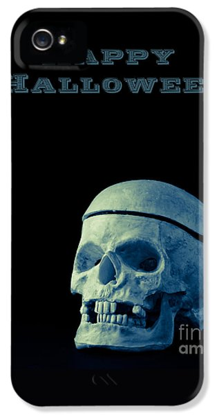 Skulls iPhone 5 Cases - Happy Halloween iPhone 5 Case by Edward Fielding