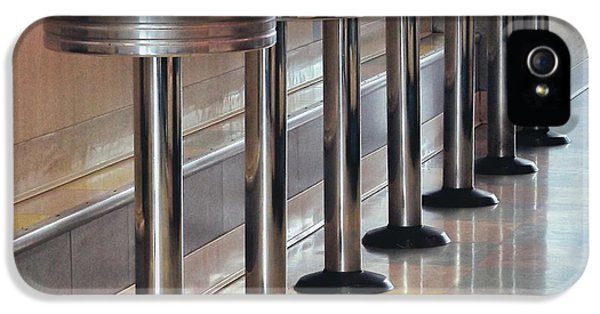Barstools iPhone 5 Cases - Have A Seat iPhone 5 Case by Peggy J Hughes