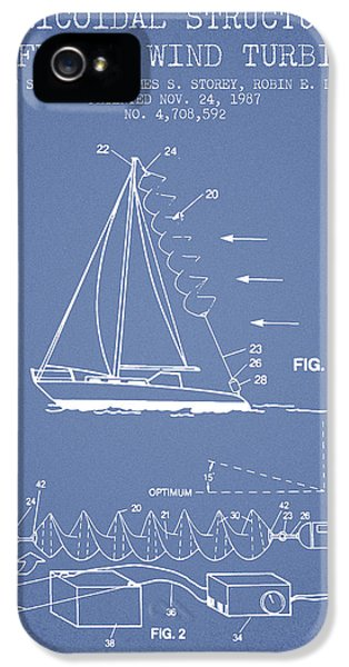 Wind iPhone 5 Cases - Helicoidal structures useful as wind turbines patent from 1987 - iPhone 5 Case by Aged Pixel