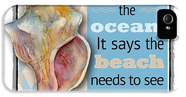 Conch iPhone 5 Cases - I hear the ocean. iPhone 5 Case by Amy Kirkpatrick
