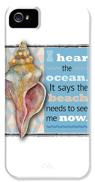 I Hear The Ocean. IPhone 5 / 5s Case by Amy Kirkpatrick