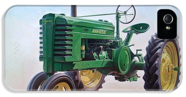 Equipment iPhone 5 Cases - John Deere Tractor iPhone 5 Case by Hans Droog