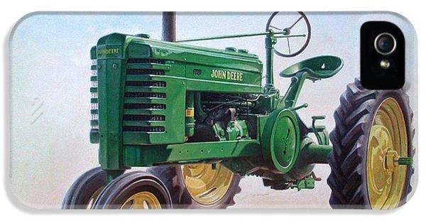 Tractor iPhone 5 Cases - John Deere Tractor iPhone 5 Case by Hans Droog