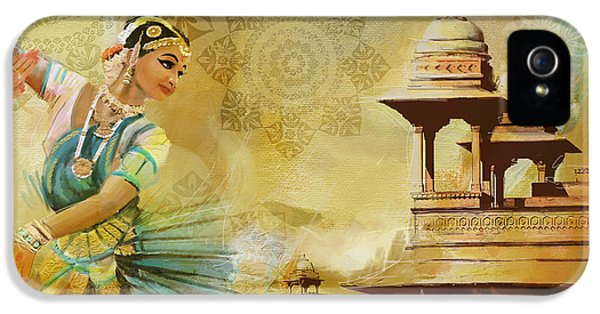 Pakistan iPhone 5 Cases - Kathak Dancer iPhone 5 Case by Catf