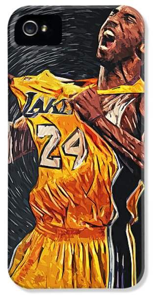 Lakers iPhone 5 Cases - Kobe Bryant iPhone 5 Case by Taylan Soyturk