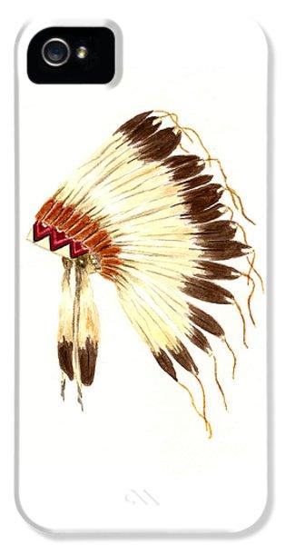 Lakota Headdress IPhone 5 / 5s Case by Michael Vigliotti