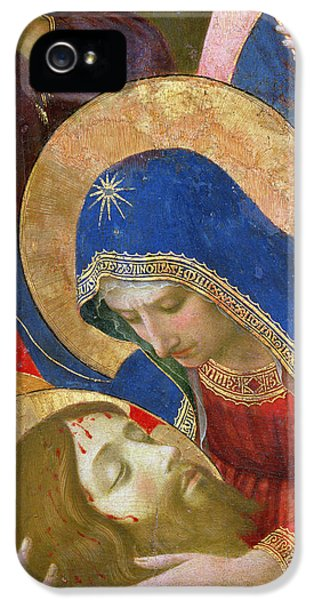 Son Of God iPhone 5 Cases - Lamentation over the Dead Christ iPhone 5 Case by Fra Angelico