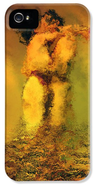 Hug iPhone 5 Cases - Lovers iPhone 5 Case by Kurt Van Wagner