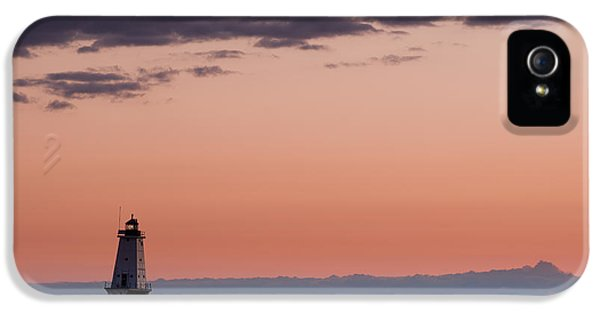 Lighthouse iPhone 5 Cases - Ludington North Breakwater Lighthouse iPhone 5 Case by Sebastian Musial