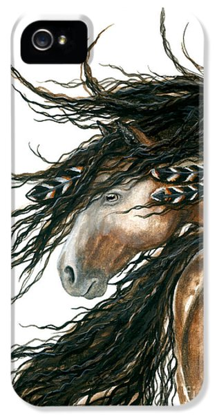 Native American Indian iPhone 5 Cases - Majestic Horse Series 80 iPhone 5 Case by AmyLyn Bihrle