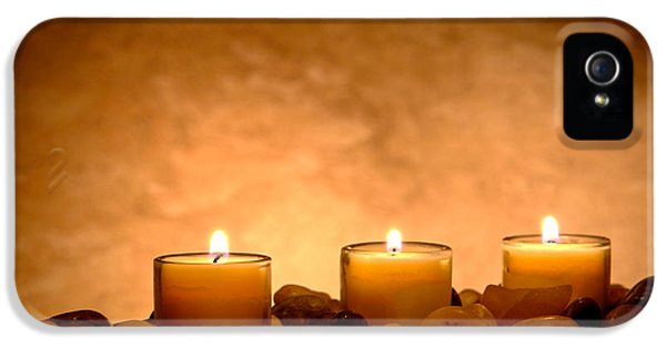 Pillar iPhone 5 Cases - Meditation Candles iPhone 5 Case by Olivier Le Queinec