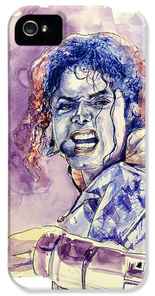 Moon Walk iPhone 5 Cases - Michael Jackson iPhone 5 Case by MB Art factory