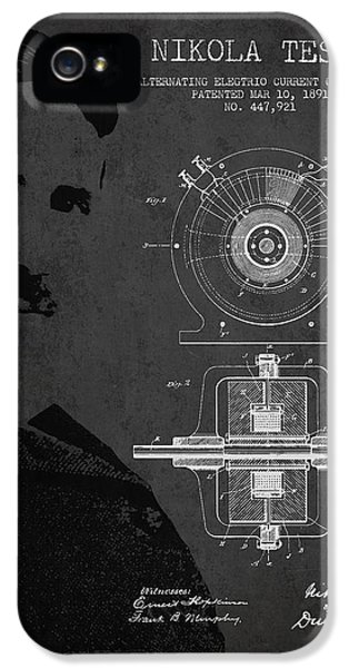Diagram iPhone 5 Cases - Nikola Tesla Patent from 1891 iPhone 5 Case by Aged Pixel