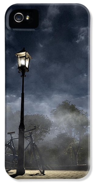 Night iPhone 5 Cases - Ominous Avenue iPhone 5 Case by Cynthia Decker