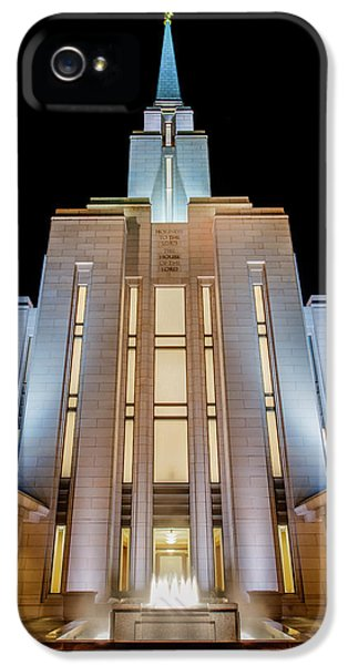 Jordan iPhone 5 Cases - Oquirrh Mountain Temple 1 iPhone 5 Case by Chad Dutson