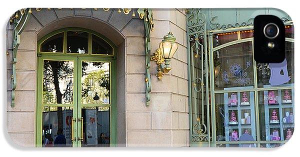 Eatery iPhone 5 Cases - Paris Laduree Macaron French Bakery Patisserie Tea Shop - Champs Elysees - The Laduree Patisserie iPhone 5 Case by Kathy Fornal