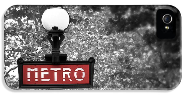 Tourism iPhone 5 Cases - Paris metro iPhone 5 Case by Elena Elisseeva