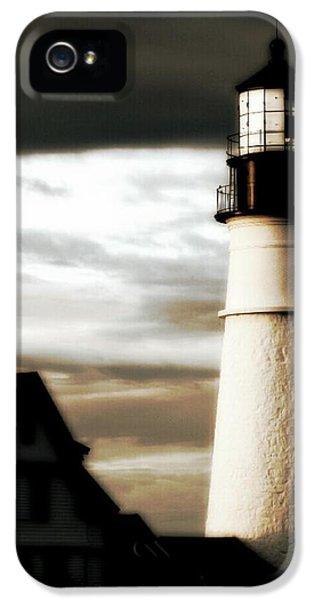 The Foghorn iPhone 5 Cases - Portland Head Lighthouse iPhone 5 Case by Paul Szakacs