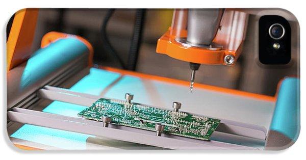 Printed Circuit Board Processing IPhone 5 / 5s Case by Wladimir Bulgar