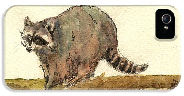 Raccoon IPhone 5 / 5s Case by Juan  Bosco
