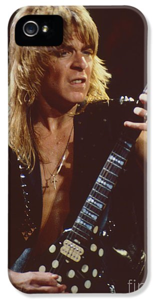 Ozzy Osbourne iPhone 5 Cases - Randy Rhoads at The Cow Palace in San Francisco - 1st Concert of The Diary Tour iPhone 5 Case by Daniel Larsen