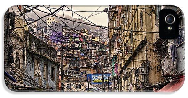 Shanty iPhone 5 Cases - Rio de Janeiro Brazil - Favela iPhone 5 Case by Jon Berghoff